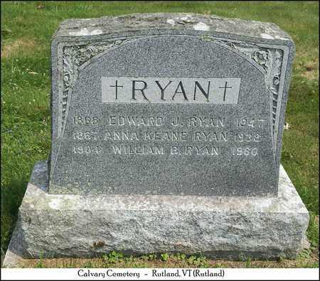 KEANE RYAN, ANNA - Rutland County, Vermont   ANNA KEANE RYAN - Vermont Gravestone Photos