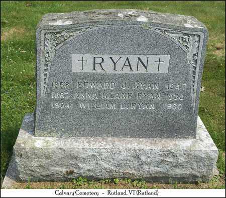 RYAN, WILLIAM B. - Rutland County, Vermont | WILLIAM B. RYAN - Vermont Gravestone Photos
