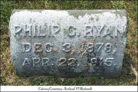 RYAN, PHILIP G. - Rutland County, Vermont   PHILIP G. RYAN - Vermont Gravestone Photos