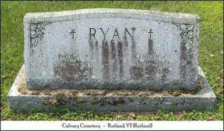 RYAN, THOMAS P. - Rutland County, Vermont | THOMAS P. RYAN - Vermont Gravestone Photos