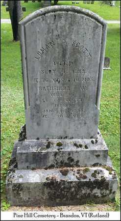 SCOTT, BATHSHEBA W. - Rutland County, Vermont | BATHSHEBA W. SCOTT - Vermont Gravestone Photos