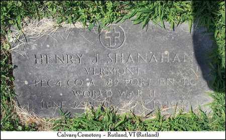 SHANAHAN (VETERAN WWII), HENRY J. - Rutland County, Vermont | HENRY J. SHANAHAN (VETERAN WWII) - Vermont Gravestone Photos