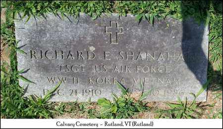 SHANAHAN (VETERAN 3WARS), RICHARD E. - Rutland County, Vermont | RICHARD E. SHANAHAN (VETERAN 3WARS) - Vermont Gravestone Photos