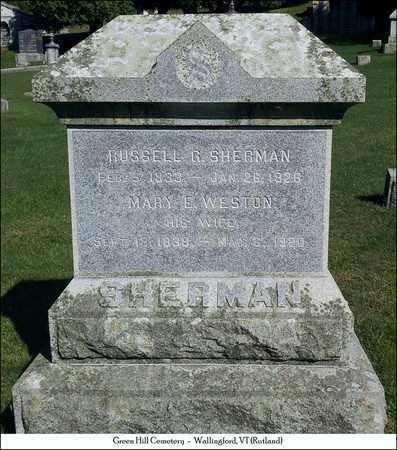 WESTON SHERMAN, MARY E. - Rutland County, Vermont   MARY E. WESTON SHERMAN - Vermont Gravestone Photos
