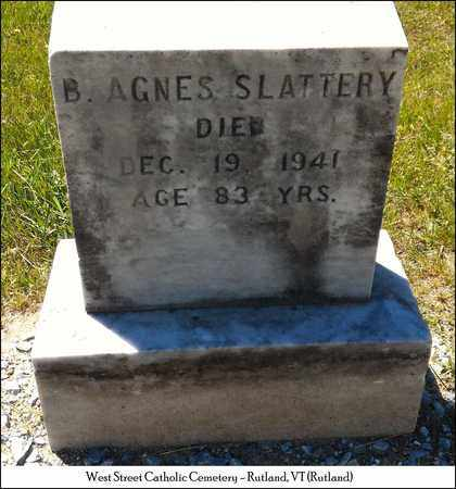 SLATTERY, BRIDGET AGNES - Rutland County, Vermont   BRIDGET AGNES SLATTERY - Vermont Gravestone Photos