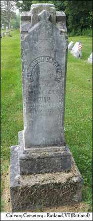 SLATTERY, ELIZABETH CATHERINE - Rutland County, Vermont | ELIZABETH CATHERINE SLATTERY - Vermont Gravestone Photos