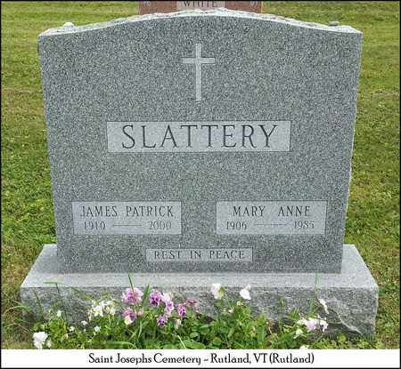 SLATTERY, MARY ANNE - Rutland County, Vermont | MARY ANNE SLATTERY - Vermont Gravestone Photos