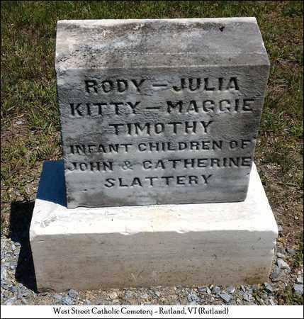 SLATTERY, JULIA - Rutland County, Vermont   JULIA SLATTERY - Vermont Gravestone Photos