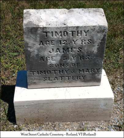 SLATTERY, JAMES - Rutland County, Vermont | JAMES SLATTERY - Vermont Gravestone Photos