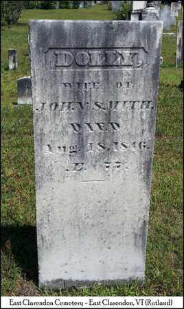 SMITH, DOLLY - Rutland County, Vermont   DOLLY SMITH - Vermont Gravestone Photos