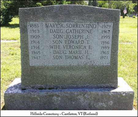 SORRENTINO, JOSEPH J. - Rutland County, Vermont | JOSEPH J. SORRENTINO - Vermont Gravestone Photos