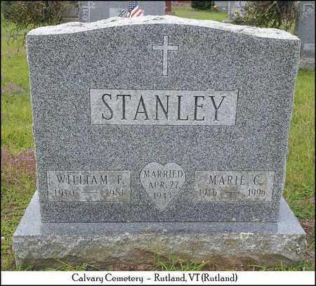 STANLEY, WILLIAM F. - Rutland County, Vermont   WILLIAM F. STANLEY - Vermont Gravestone Photos