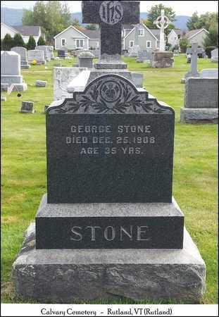 STONE, GEORGE - Rutland County, Vermont   GEORGE STONE - Vermont Gravestone Photos
