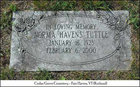 HAVENS TUTTLE, NORMA - Rutland County, Vermont | NORMA HAVENS TUTTLE - Vermont Gravestone Photos