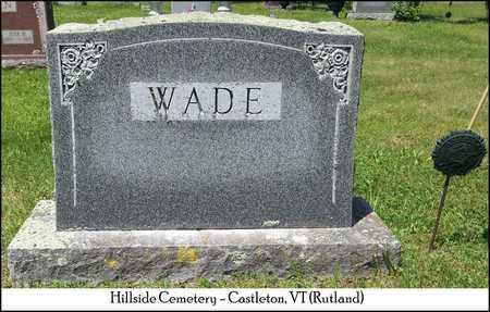 WADE, MARY - Rutland County, Vermont | MARY WADE - Vermont Gravestone Photos