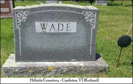 WADE, JAMES E. - Rutland County, Vermont | JAMES E. WADE - Vermont Gravestone Photos