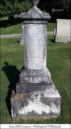 WALDO, MARY F. - Rutland County, Vermont | MARY F. WALDO - Vermont Gravestone Photos
