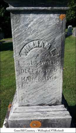 WALDO, WILLIAM L. - Rutland County, Vermont | WILLIAM L. WALDO - Vermont Gravestone Photos