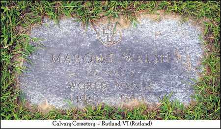 WALSH (VETERAN WWII), DR. MARQUIS - Rutland County, Vermont   DR. MARQUIS WALSH (VETERAN WWII) - Vermont Gravestone Photos