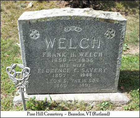 SAVERY WELCH, FLORENCE E. - Rutland County, Vermont | FLORENCE E. SAVERY WELCH - Vermont Gravestone Photos