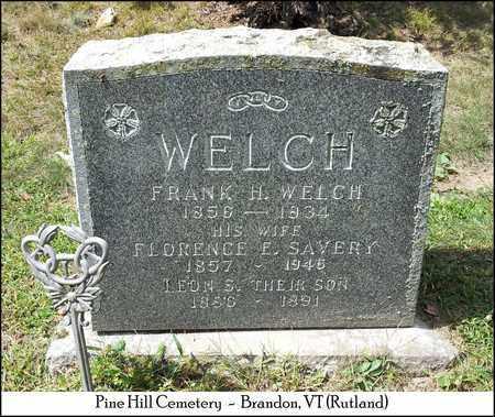 WELCH, FRANK H. - Rutland County, Vermont | FRANK H. WELCH - Vermont Gravestone Photos