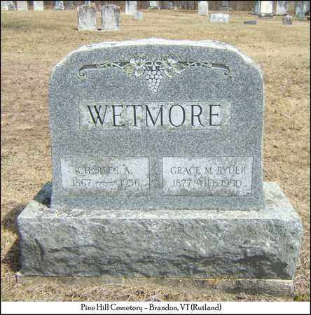 WETMORE, CHARLES A. - Rutland County, Vermont | CHARLES A. WETMORE - Vermont Gravestone Photos