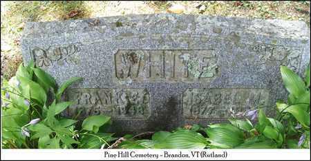 WHITE, FRANK E. - Rutland County, Vermont | FRANK E. WHITE - Vermont Gravestone Photos