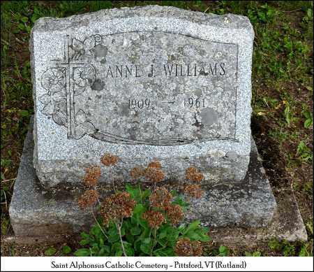 CRAHAN WILLIAMS, ANNE J. - Rutland County, Vermont | ANNE J. CRAHAN WILLIAMS - Vermont Gravestone Photos