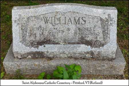 WILLIAMS, EDWARD J. - Rutland County, Vermont | EDWARD J. WILLIAMS - Vermont Gravestone Photos