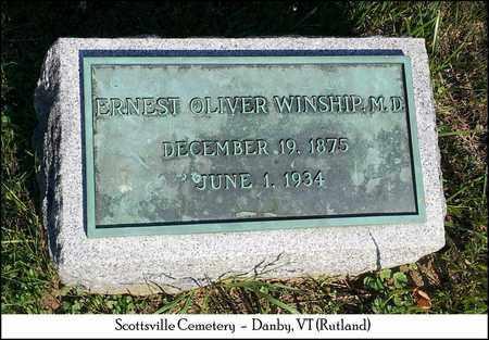 WINSHIP, ERNEST OLIVER, M.D. - Rutland County, Vermont   ERNEST OLIVER, M.D. WINSHIP - Vermont Gravestone Photos