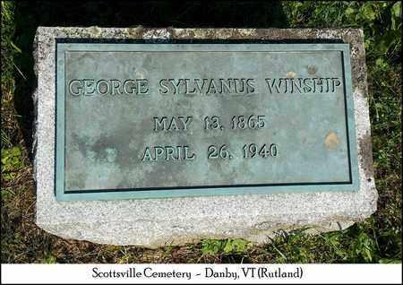 WINSHIP, GEORGE SYLVANUS - Rutland County, Vermont | GEORGE SYLVANUS WINSHIP - Vermont Gravestone Photos