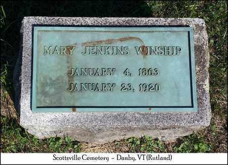 JENKINS WINSHIP, MARY - Rutland County, Vermont | MARY JENKINS WINSHIP - Vermont Gravestone Photos
