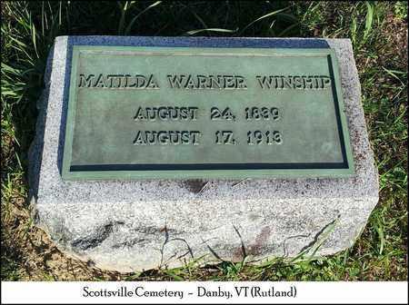 WARNER WINSHIP, MATILDA - Rutland County, Vermont | MATILDA WARNER WINSHIP - Vermont Gravestone Photos