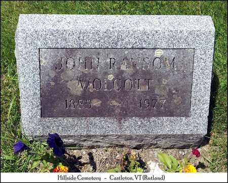 WOLCOTT, JOHN RANSON - Rutland County, Vermont | JOHN RANSON WOLCOTT - Vermont Gravestone Photos
