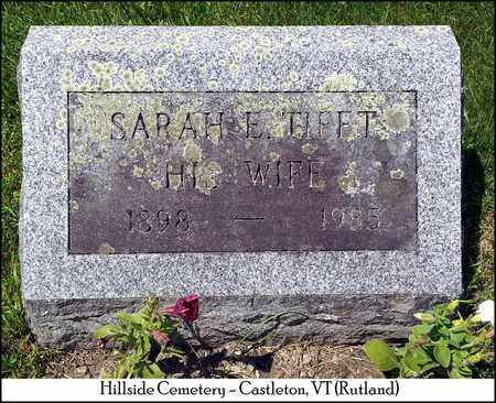 TIFFT WOLCOTT, SARAH E. - Rutland County, Vermont | SARAH E. TIFFT WOLCOTT - Vermont Gravestone Photos
