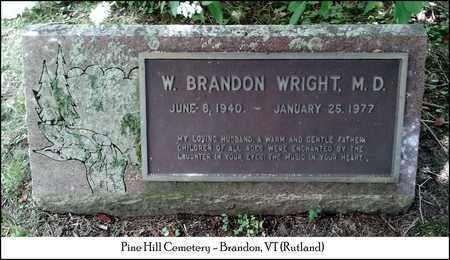 WRIGHT, DR. W. BRANDON - Rutland County, Vermont | DR. W. BRANDON WRIGHT - Vermont Gravestone Photos