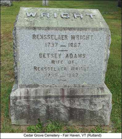 ADAMS WRIGHT, BETSEY - Rutland County, Vermont | BETSEY ADAMS WRIGHT - Vermont Gravestone Photos