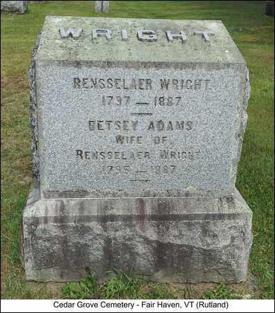 ADAMS WRIGHT, BETSEY - Rutland County, Vermont   BETSEY ADAMS WRIGHT - Vermont Gravestone Photos