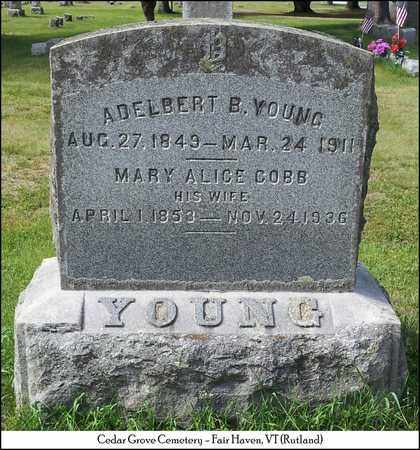 COBB YOUNG, MARY ALICE - Rutland County, Vermont | MARY ALICE COBB YOUNG - Vermont Gravestone Photos