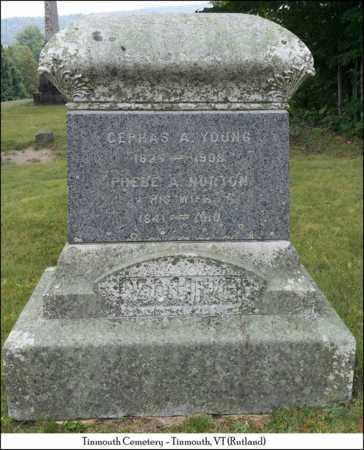 NORTON YOUNG, PHEBE A. - Rutland County, Vermont | PHEBE A. NORTON YOUNG - Vermont Gravestone Photos