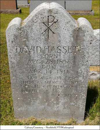 HASSETT, DAVID - Washington County, Vermont | DAVID HASSETT - Vermont Gravestone Photos