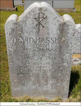 HASSETT, DAVID - Washington County, Vermont | DAVID HASSETT - Vermont Gravestone Photos