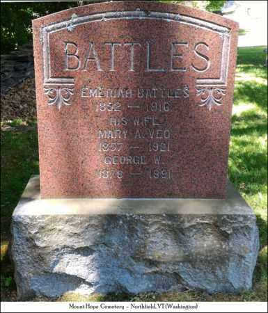 VEO BATTLES, MARY A. - Washington County, Vermont | MARY A. VEO BATTLES - Vermont Gravestone Photos