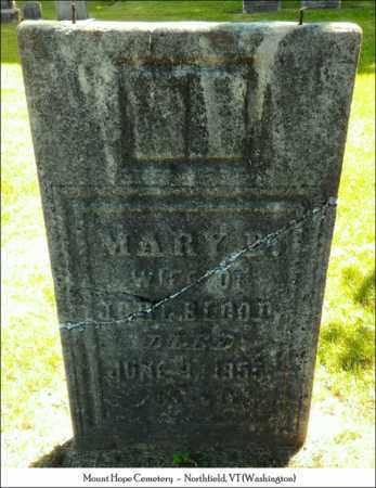 DAVENPORT BLOOD, MARY - Washington County, Vermont | MARY DAVENPORT BLOOD - Vermont Gravestone Photos