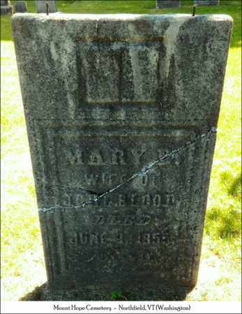BLOOD, MARY - Washington County, Vermont | MARY BLOOD - Vermont Gravestone Photos