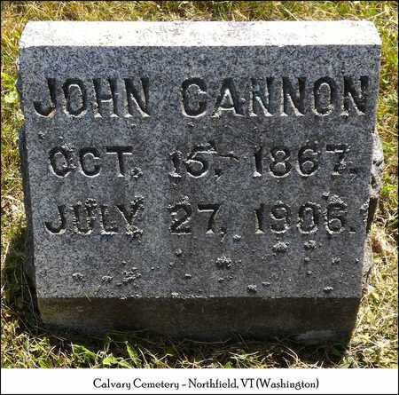 CANNON, JOHN - Washington County, Vermont | JOHN CANNON - Vermont Gravestone Photos