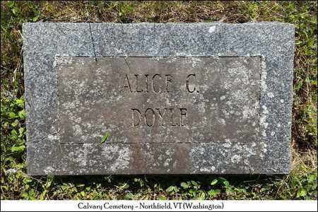 DOYLE, ALICE C. - Washington County, Vermont | ALICE C. DOYLE - Vermont Gravestone Photos