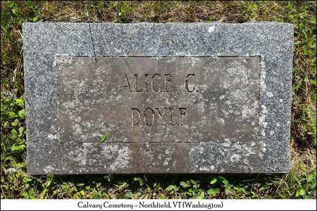 DOYLE, ALICE C. - Washington County, Vermont | ALICE C. DOYLE - Vermont Gravestone Photos