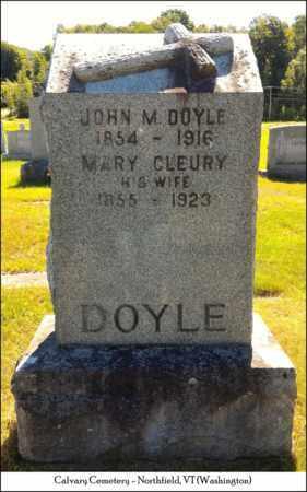 CLEURY DOYLE, MARY - Washington County, Vermont | MARY CLEURY DOYLE - Vermont Gravestone Photos