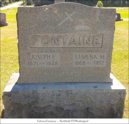 FOUNTAIN, JOSEPH E. - Washington County, Vermont | JOSEPH E. FOUNTAIN - Vermont Gravestone Photos